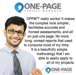 OPPM™ - One-Page Project Manager