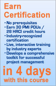 PMRG Offers Exceptional Project Management Courses for PMI PDUs and HRCI credit hours